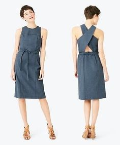KATE SPADE SATURDAY NWT Blue Speckle Tie-Around Sleeveless Summer Dress Size 10 #KateSpade #SundressSheath #Casual