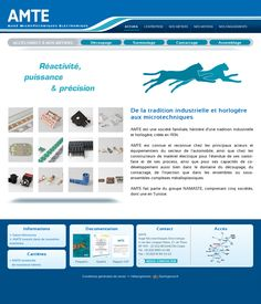 Site vitrine de la société AMTE à Thise.  Administration via le CMS Drupal. www.amte.com