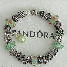 """Authentic Pandora Sterling Silver Bracelet, Receipt, Gift Box, 24 European Beads/Charms  """"FREE Shipping, FREE Grab-Bag"""""""