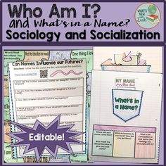 Sociology and the Socialization of Me Name Activities, Interactive Activities, Social Activities, Interactive Notebooks, Social Studies Classroom, Secondary Teacher, Blended Learning, New Teachers, Teacher Resources