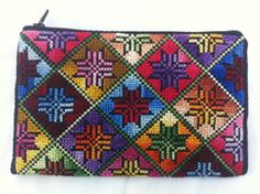 Cross stitch money/coin wallet, small size – multi color.Star design Size: approx 12*18 cm Price: $ 20 each
