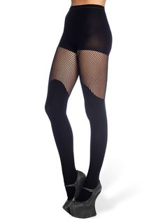 Bootleg Fishnet Hosiery - LIMITED (AU $40AUD) by Black Milk Clothing