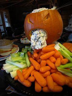 veggie dip vomiting pumpkin