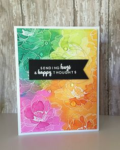 Altenew: Beautiful Day, Crafting By Carol, Smoosh Resist, watercolor
