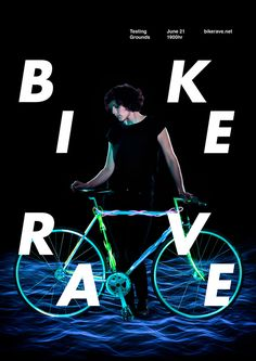 Bike Rave Melbourne Poster by Gerard Hindle