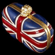 Alexander McQueen 'Britannia' Skull Clutch Bag, £635.