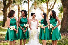 Emerald Green Leiser Opera Center Wedding by beccaborge.com