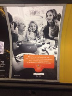 Le creuset ads //London /From Max P./
