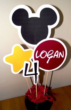 Mickey Mouse Inspired Happy Birthday Banner