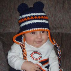 Chicago Bears Baby Hat