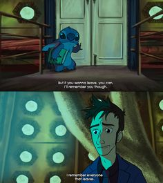 The 10th Doctor Meets The Most Dangerous Alien Ever...The Doctor & Stitch -- This needs to happen. Ten and Stitch. Wasn't sure if I should put this in my Dr Who or Stitch board! Inner turmoil!!