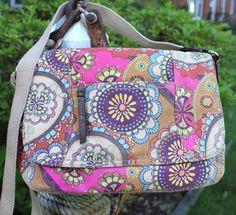 RELIC by Fossil Multi Floral Print Canvas Messenger Cross Body Handbag #RelicByFossil #Messengerhobocrossbody