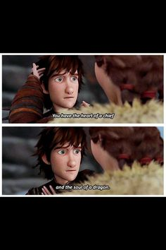 Valka comforts Hiccup after Stoick's funeral ceremony.