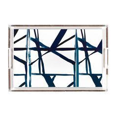 Geometric Lines Lucite Tray