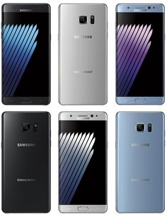 Leak: Samsung Galaxy Note 7 Renders In Black Silver & Blue #Android #CES2016 #Google
