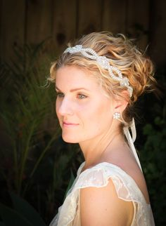 Love the head band.... maybe in black for mals wedding