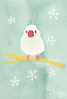「桜文鳥」                                                                                                                                                                                 もっと見る