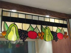 Stained Glass Fruit Panel | Custom.This piece was made to co… | Flickr