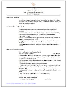 Resume Format On Word Cv Format For Mba Hr 2  Career  Pinterest  Cv Format