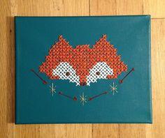 Cross Stitch Fox Head.