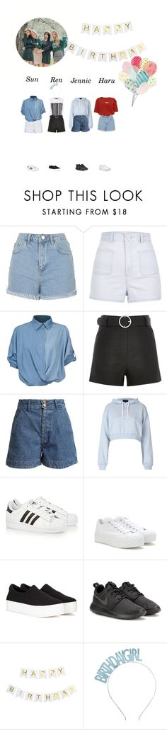 """Ren Birthday Party"" by officialsrjh ❤ liked on Polyvore featuring Topshop, River Island, Chicnova Fashion, Alexander Wang, Black, Apiece Apart, adidas Originals, Converse, Opening Ceremony and NIKE"