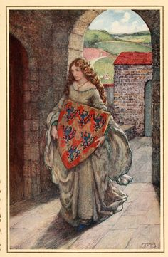 """"""" Then to her tower she climb'd, and took the shield, There kept it, and so lived in fantasy."""" Eleanor Fortescue-Brickdale (1871 – 10 March 1945) - http://www.pierangelo-boog.com/2015/06/eleanor-fortescue-brickdale.html"""
