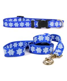Love this Blue Snowflakes Pet Collar & Lead on #zulily! #zulilyfinds