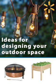 Discover unique ideas for your outdoor space. From bistro sets to fire pits, garden planters to dazzling string lights, you'll find everything you need to create a backyard oasis when you shop at walmart.com.
