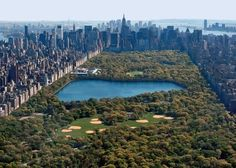 Central Park, looking South from Harlem (Upper East Side on the left, Upper West Side on the right, Midtown in the center).