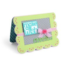 Sizzix Framelits Die Set - 660147 Scallop w/Banners & Greetings Card Drop-ins