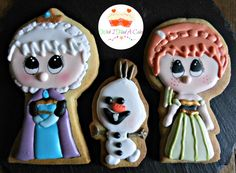 'Frozen' cookies decorated with Royal Icing