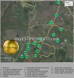 Peta lokasi The Golden Stone Serpong #gnagroup #goldenstoneserpong