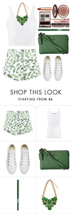 street style by ecem1 on Polyvore featuring Vince, Chicnova Fashion, Converse, Coach, jane and Charlotte Tilbury