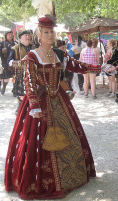 Tudor Costume / shown at Scarborough Renaissance Festival