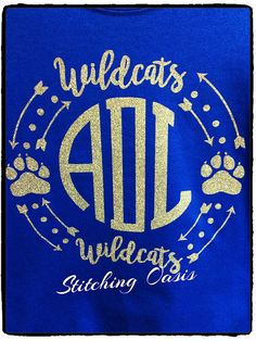 Glitter Wildcats Monogramed Shirt