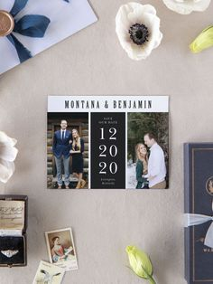 Simply Spoken Photo Wedding Save the Date Cards Wedding Vase Centerpieces, Spring Wedding Decorations, Save The Date Magnets, Save The Date Cards, Wedding Invitation Design, Wedding Stationary, Engagement Ideas, Wedding Engagement, Destination Wedding Save The Dates
