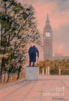 Special offer on canvas print just commenced for this Churchill and Big Ben painting by the artist Bill Holkham via this link.