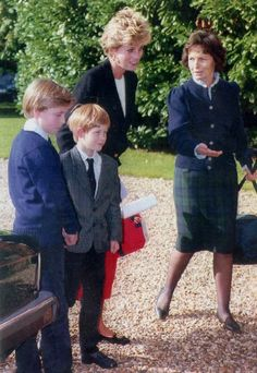 Harry, pictured on his first day at the Ludgrove, attended the school at the time of his m...