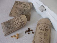 Víkendový dom: Papierové vrecká na semená kvetov.