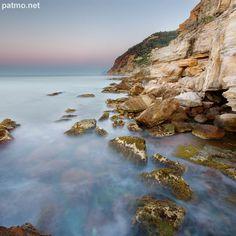 Photo du lever du jour sur les plages du Bau Rouge - Carqueiranne