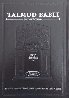 Talmud Babli Tratado De Jaguiga Edicion Tashema Grande (Spanish)