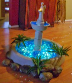 Frazzled Mom and Friends: How to make a prop fountain for Prom or Homecoming or other event