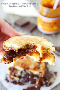 Pumpkin, Chocolate, and Brie Grilled Cheese Sandwich