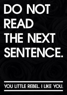 Don't read this!