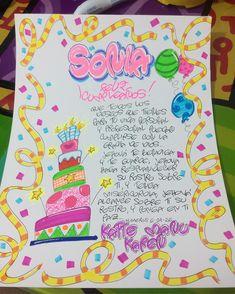 Para una muestra de cariño... Un simple papelilloo.... El resto dejalo en manos de  @la_tiendita_msr ❤️❤️🎁🎈🎁🎈🎊🎉#manualidades #hechoamano… Birthday Ideas For Her, Valentine Crafts, Ideas Para, Birthday Cards, Presents, Lettering, Gifts, Diy, Frases