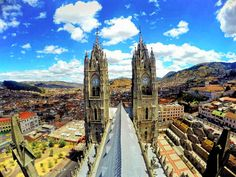 Visiting the awesome Basilica del Voto Nacional in the Centro Historico is one of the best things to do in Quito, Ecuador!Visiting the awesome Basilica del Voto Nacional in the Centro Historico is one of the best things to do in Quito, Ecuador!