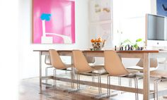 love this sleek dining room table