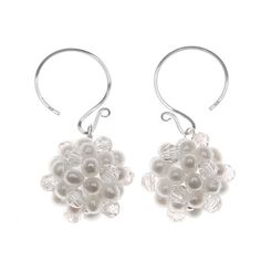 Remember having snowball fights as a kid? What fun! We created these sparkling and sophisticated earrings as an homage to that favorite childhood winter pastime.
