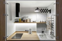 Kitchen Counter in Moscow Apartment by Studio Bazi