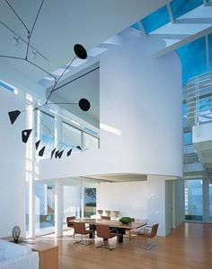 The dining table design by Richard Meier & Partners